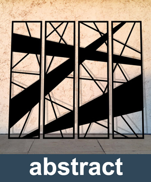 abstract laser cut panels and decorative screens