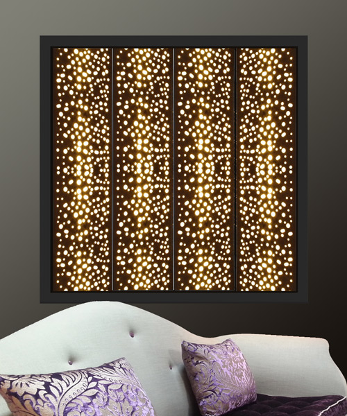 black light window shutters for modern homes