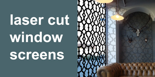 decorative laser cut window screens