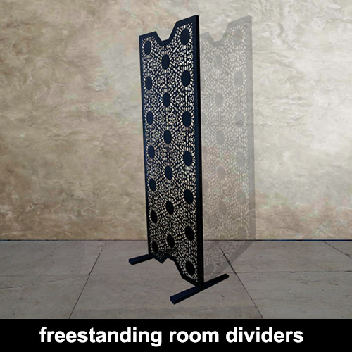 decorative laser cut metal freestanding room dividers