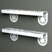 modern metal shelving from Lace Furniture