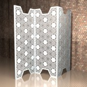 Nottingham Lace Metal dividing screen from Lace Furniture