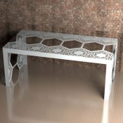 Windsor Lace Metal Dining Table from Lace Furniture