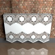 Manchester Lace Fancy metal radiator covers from Lace Furniture