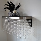 Crystal Console table and shelving by Couture Cases