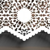 Nottingham  Lace  Braided Pattern Wall mounted Radiator cover by Couture Cases