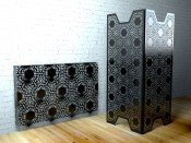Black Lace Room dividers by Lace Furniture