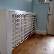 London Geometric Floor mounted Radiator cover by Couture Cases