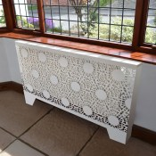 Nottingham Lace CASA Pattern Wall mounted Radiator cabinets