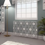 Nottingham Lace Pattern Wall mounted Radiator cover by Couture Cases